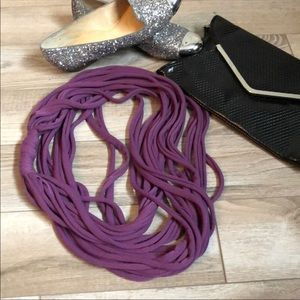 Modcloth Purple Infinity Scarf